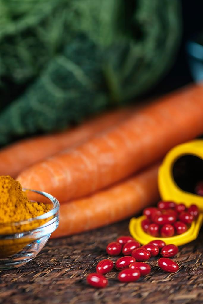 low glycemic beta carotene vitamins