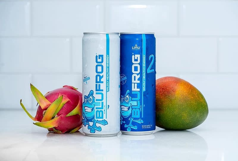 photo of limu blufrog energy with mango and dragon fruit