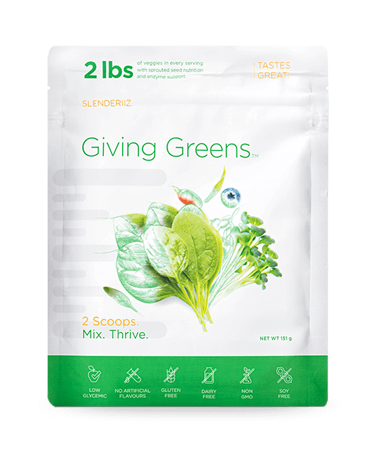 giving greens product by slenderiiz