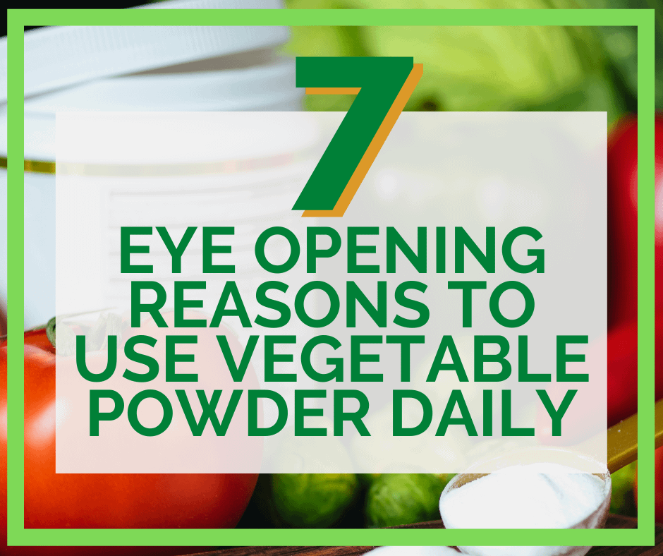 Benefits of Vegetable Powders Blog Post Cover