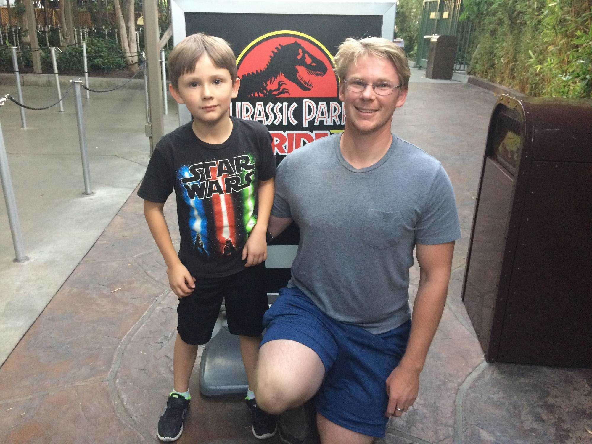 zeth and son at universal studios
