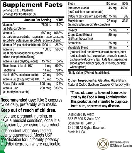 Optimal-V Supplement Facts